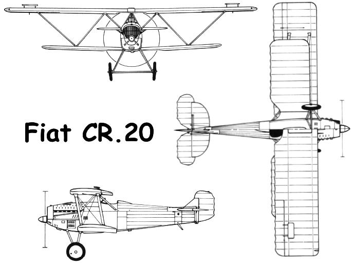 Схема Fiat CR.20