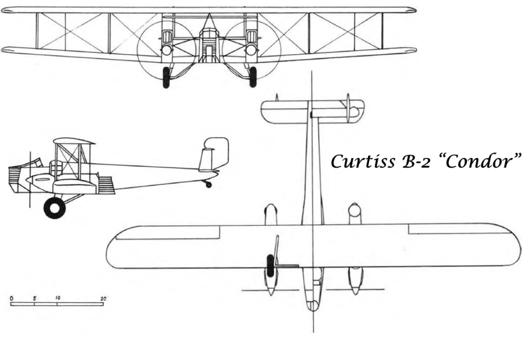 "Схема Curtiss B-2 ""Condor"""