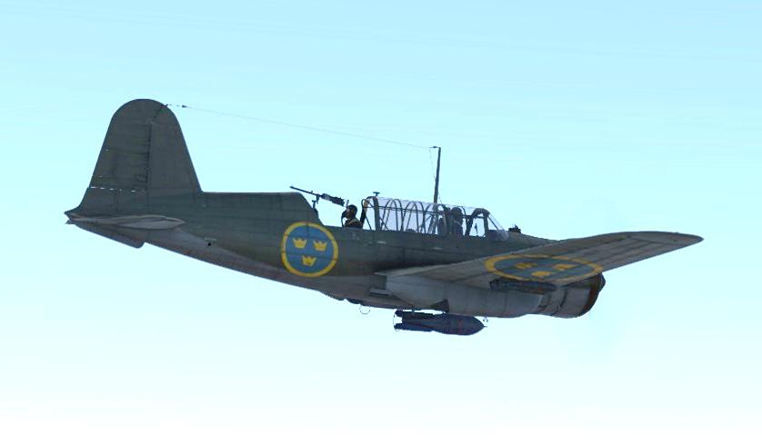 Saab В.17В в War Thunder. Скриншот из игры