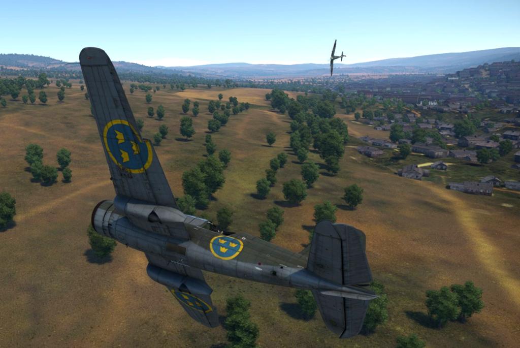 Спитфайр атакует Saab В.17В