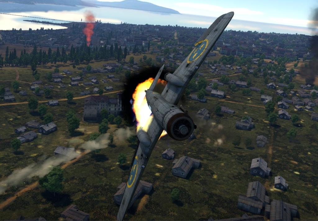 Saab В.17В горел
