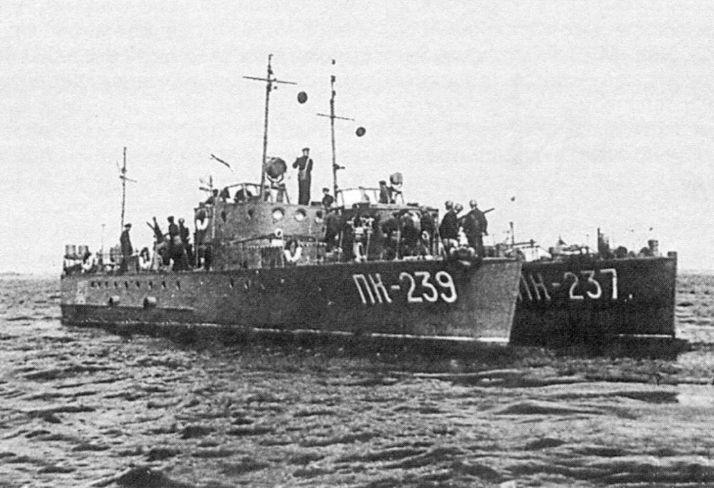 МО-4 в составе отрядов морпогранохраны