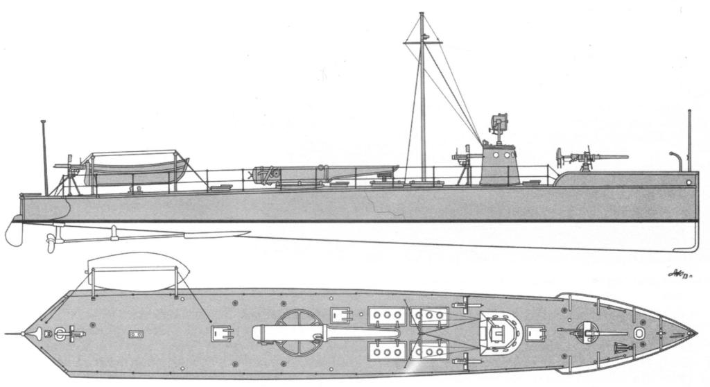 Схема катера-миноноски Никсона