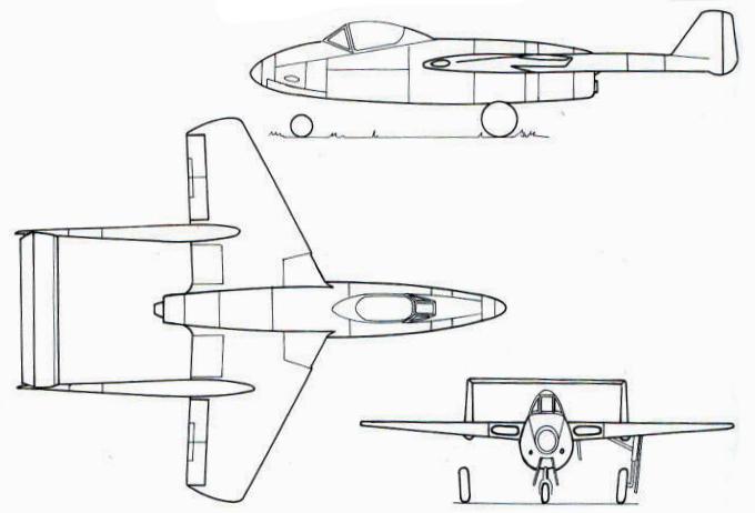 Схема Fw 226 с дополнительным ракетным двигателем