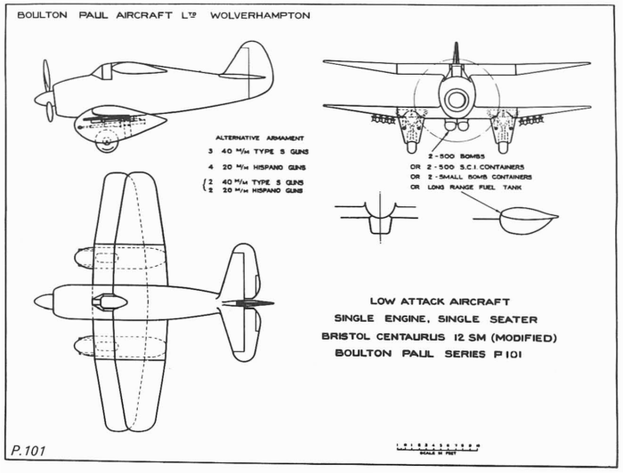 Схема Boulton Paul P.101