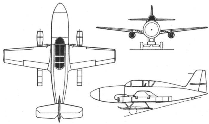 Схема Ме.328В-1