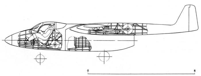 Компоновочная схема Ла-ВРД