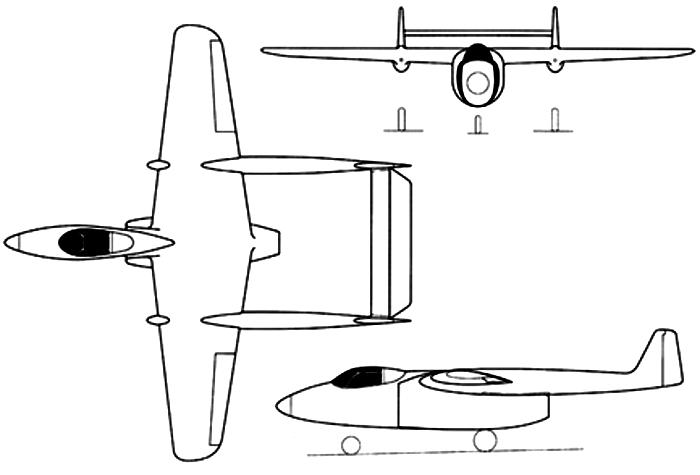 Схема проекции проекта Ла-ВРД