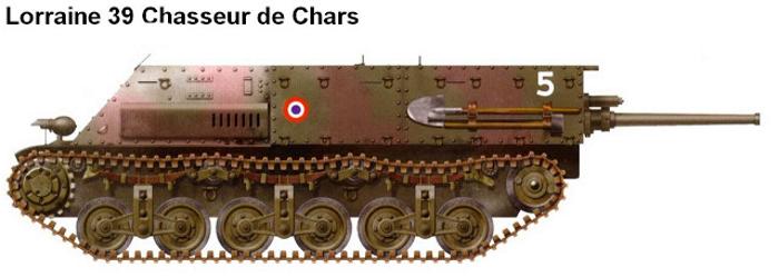 Рисунок-реконструкция Lorraine 39L с 47-мм пушкой SA 37