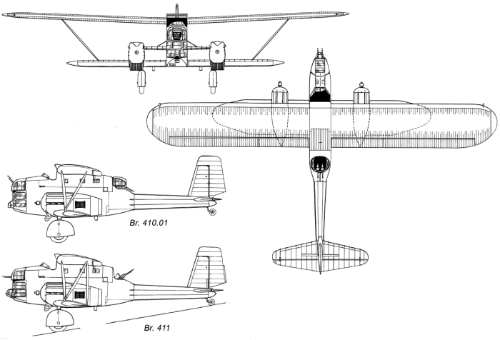 Схема базовой версии Breguet Br.41