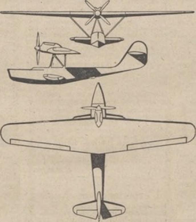 Схема Romano R-5 из журнала Les Ailes 1932 г