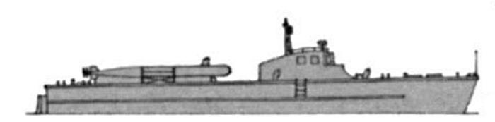 """Проекция турецкого торпедного катера типа """"Bora"""""""