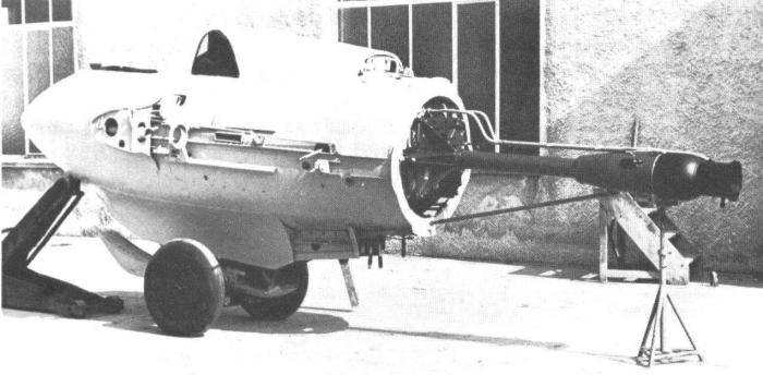 Ме.163В с двигателем HWK RII-211