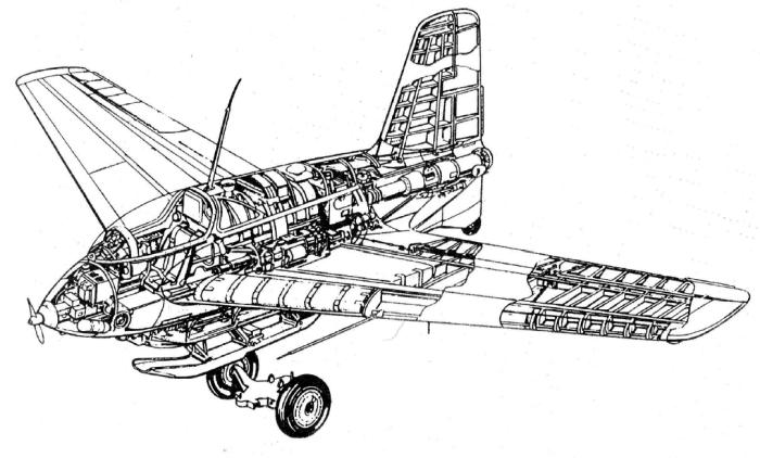 Компоновочная схема Ме.163В