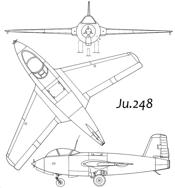 Схема Ju.248(Ме.263)