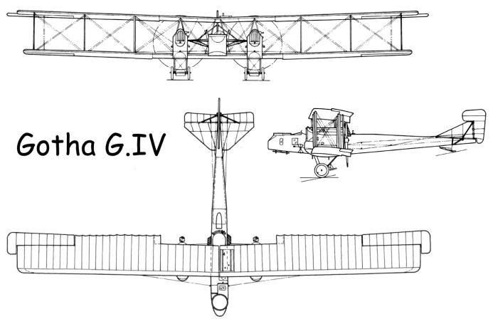 Схема Gotha G.IV