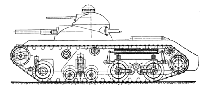 Схема подвески танка ТА-2