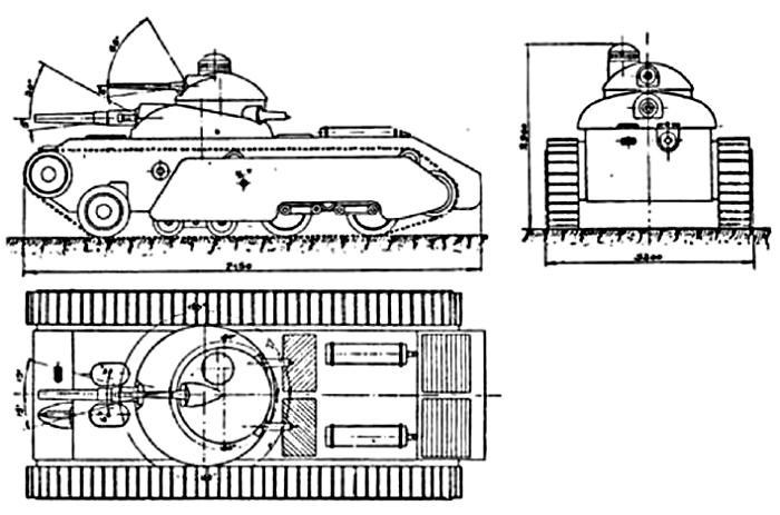 Проекции танка ТА-2