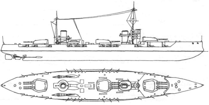Проект линкора Бубнова И.Г. 1915 г.
