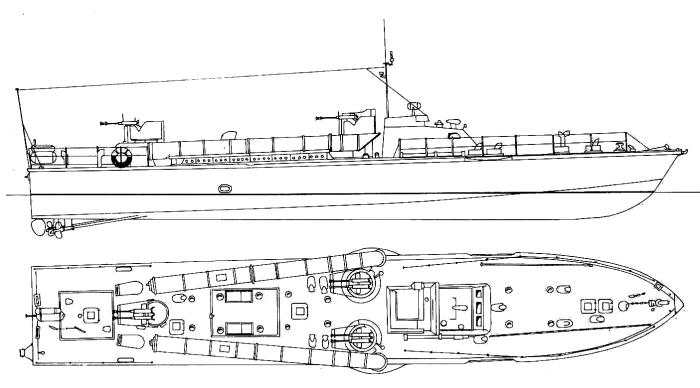 Схема катера ТД-200бис (без РЛС)
