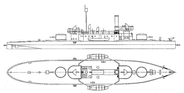 Схема наружного вида мониторов «Körös» и «Szamos»