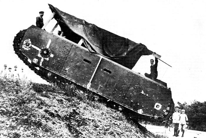 Шасси Fiat 2000 на испытаниях ходовой 1918 г