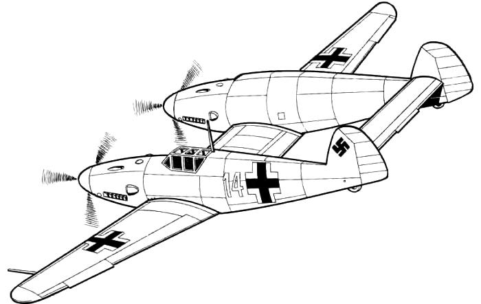 Bf.109 Z Рисунок-реконструкция